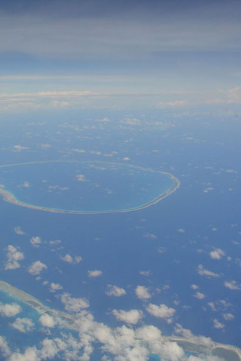 Atoll from the air